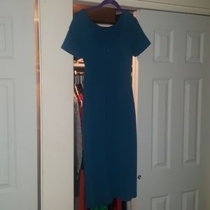 Boden teal blue size 8 midi dress long length